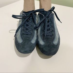 TOD'S sneakers Blue suede Size 7